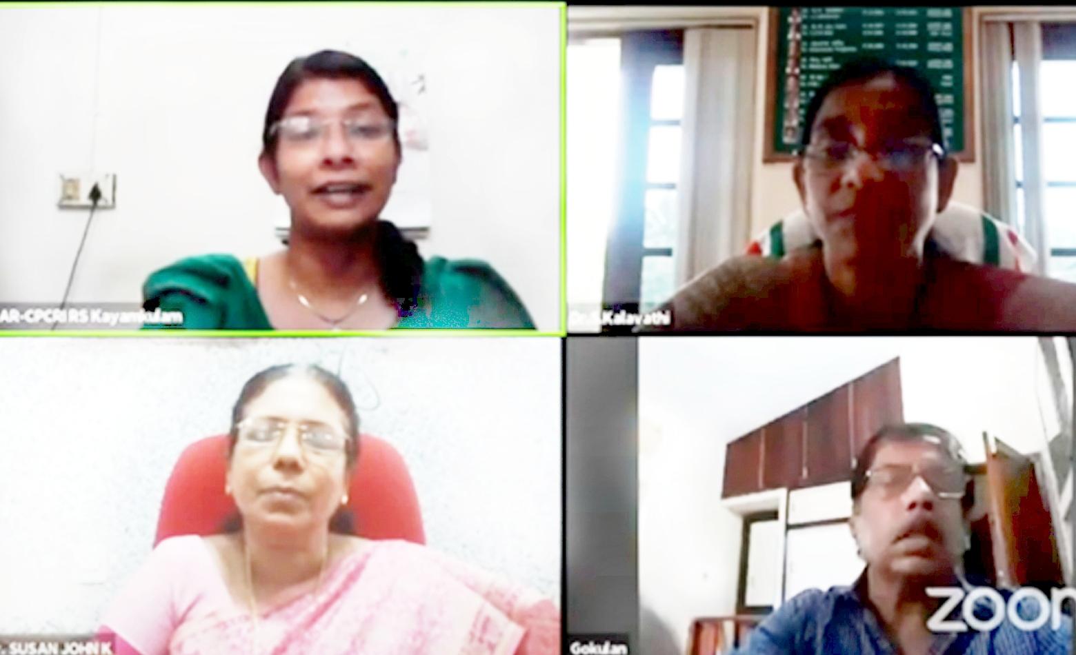Photo for ICAR-CPCRI, Regional Station, Kayamkulam organized online webinar series on 'Soil health management for crop health and productivity'