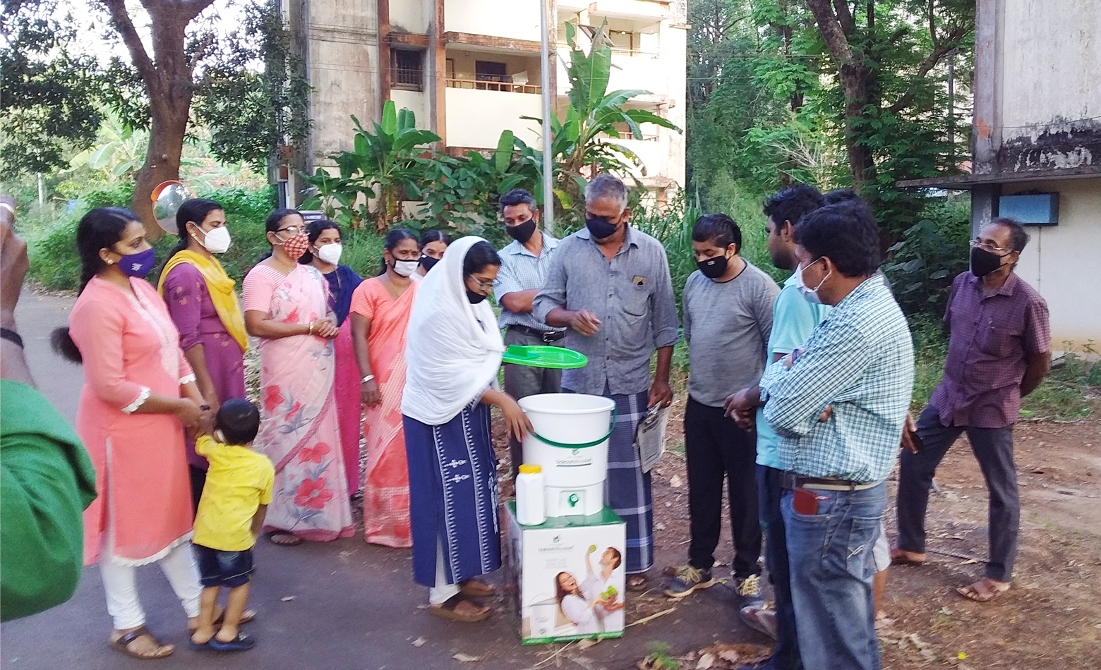 Photo for Method demonstration in residential block - Swachhta Pakhwada, Activity Report: 22 December 2020