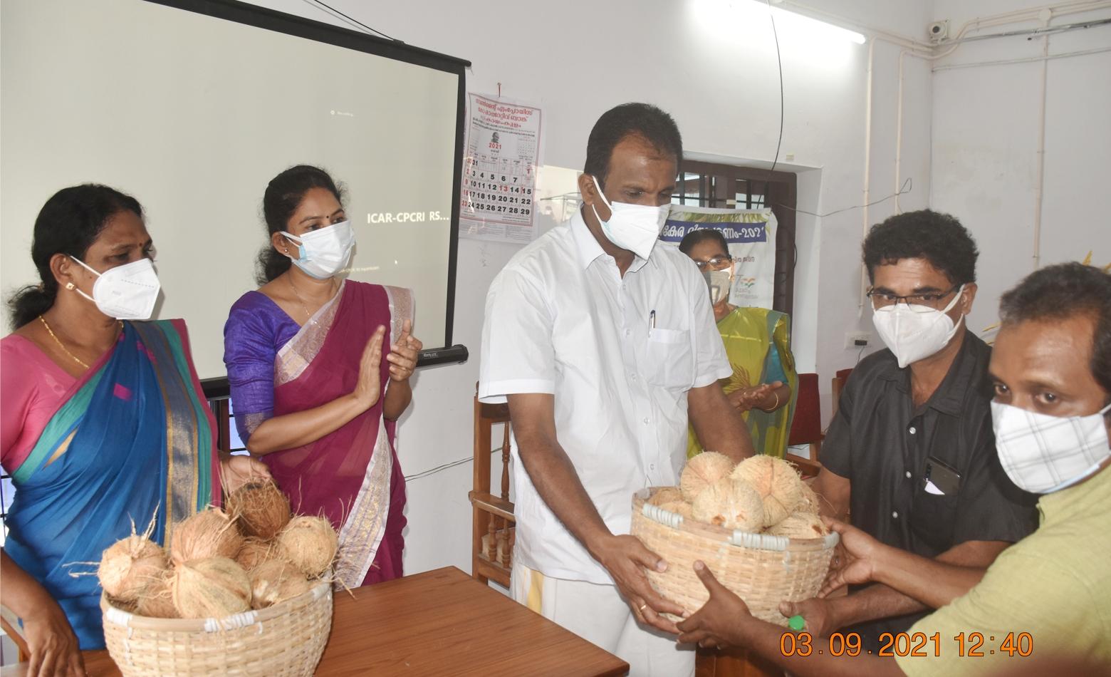 Photo for ICAR - CPCRI - Farmer FIRST Programme (FFP) launched coconut procurement programme